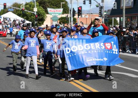 """Los Angeles, Kalifornien, USA. 21. Januar, 2019. Der Martin Luther King, Jr. """"34th jährliche Königreich Day Parade"""" in Los Angeles, Kalifornien am 21. Januar 2019. Credit: Sheri Determan/Alamy leben Nachrichten - Stockfoto"""