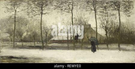 Winterlandschaft. Dating: C. 1875. Maße: H 48 cm x T 100 cm. Museum: Rijksmuseum, Amsterdam. Autor: Willem Maris. - Stockfoto