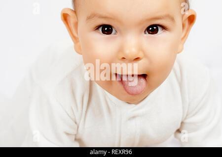 Weiße Zunge Baby