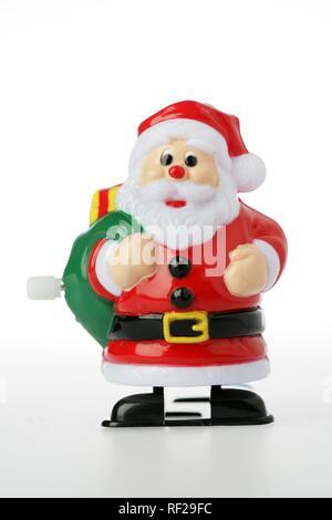 Kunststoff Santa Claus wind up Toy - Stockfoto