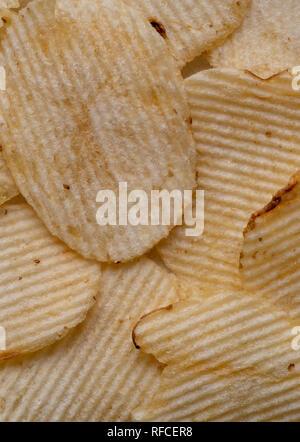 Detailansicht der Kartoffelchips - Stockfoto