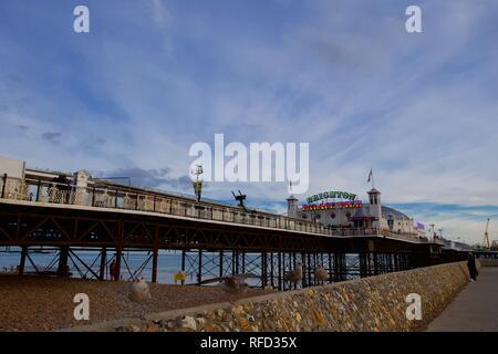 Palace Pier von Brighton, Brighton, East Sussex, England.