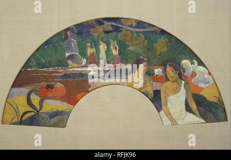 Arearea Freudigkeit II. Datum/Zeitraum: 1894. Malerei. Gouache und Aquarell auf Leinwand. Breite: 85,1 cm. Höhe: 57,2 cm (ohne Rahmen). Autor: Paul Gauguin. - Stockfoto