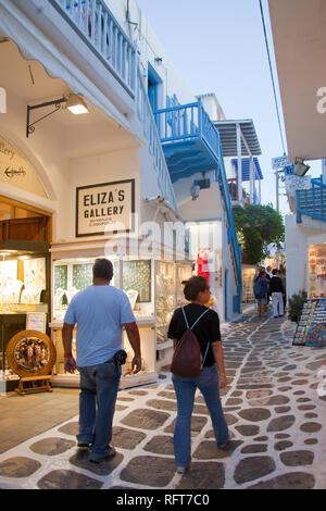 Chora Mykonos, Kykladen, Südliche Ägäis, griechische Inseln, Griechenland, Europa - Stockfoto