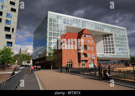 Der Spiegel Gebäude, HafenCity, Hamburg, Deutschland, Europa - Stockfoto