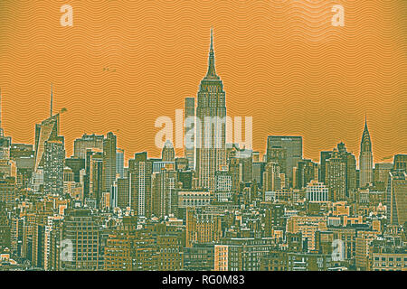 Neue Tork City NY Travel Poster 5.jpg-RG0M86 - Stockfoto