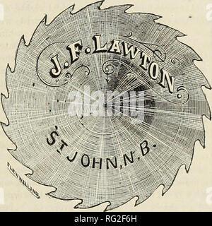 . Kanadische Forstindustrie 1880-1881. Holzschlag; Wälder und Forstwirtschaft; Wald; Wald - zellstoffindustrie; Holz verarbeitenden Industrien. Die KANADA LUMBERMAN. Wichtige treffen. Das Thema WALDBRÄNDE betrachtet - ESSAY ÜBER DIE FORSTWIRTSCHAFT. In der Sitzung des Ontario landwirtschaftliche Vereinigung, in der City Hall, London, am 21. September, Preis Essays über Forstwirtschaft wurden gelesen. Herr J. H. Aylesworth präsidierte, und auf der Plattform wurden Professoren Bell und Mühlen. Professor Bell erläuterte die Objekte der Begegnung, und er sagte, die Notwendigkeit der Vorsichtsmaßnahmen, die von der Regierung für die preser Verhältnis getroffen werden - Stockfoto
