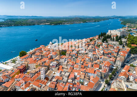 Stadt Šibenik, Kroatien - Stockfoto