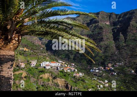 Obere Tal von Valle Gran Rey, La Gomera, Kanarische Inseln, Spanien, Europa, Oberes Tal von Valle Gran Rey, La Gomera, Kanarische Inseln, Spanien, Europa - Stockfoto