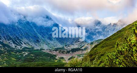 Polnische Tatra Sommer Landschaft am frühen Morgen. - Stockfoto