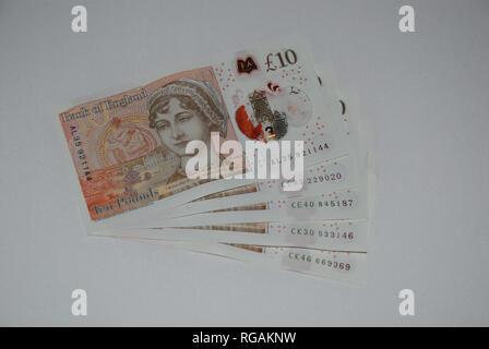 £10 Notizen - Stockfoto