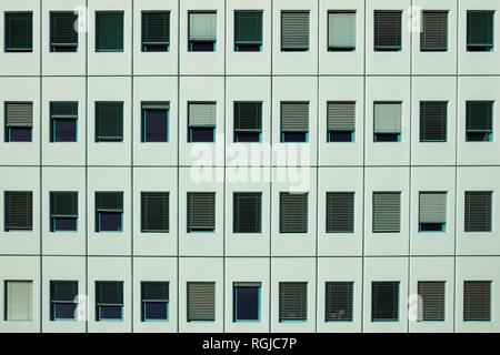 Reihen von Fenster, Fassade eines Bürogebäudes - Stockfoto