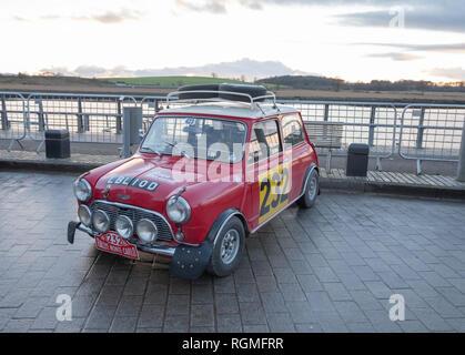 Glasgow, Schottland, Großbritannien. 30. Januar 2019: Der 22. Rallye Monte-Carlo Historique beginnt in Clydebank. Credit: Skully/Alamy leben Nachrichten - Stockfoto