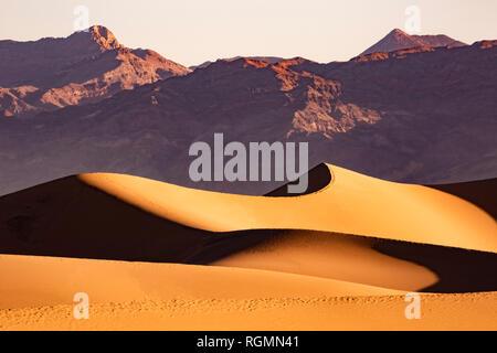 USA, Californien, Death Valley, Death Valley National Park, Mesquite flachen Sand Dünen - Stockfoto