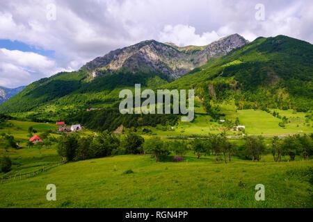 Albanien, Shkoder County, Albanischen Alpen, kelmend Region, Lepushe - Stockfoto