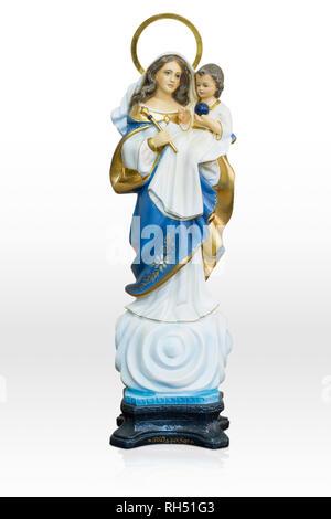 Statue Unserer Lieben Frau von Grace Jungfrau Maria isoliert