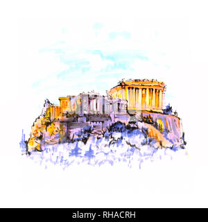 Akropolis, Parthenon in Athen, Griechenland