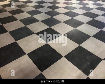 Kariertem Boden Hintergrund Textur. - Stockfoto