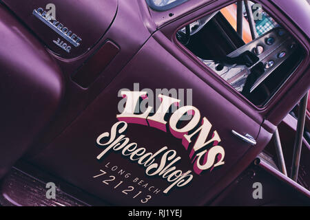 Chevrolet 3100 Pick-up. Chevy truck abstrakt. Vintage Filter angewendet - Stockfoto