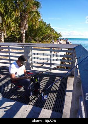 Sleepy Fischer, Key Biscayne, Miami, Florida, USA - Stockfoto