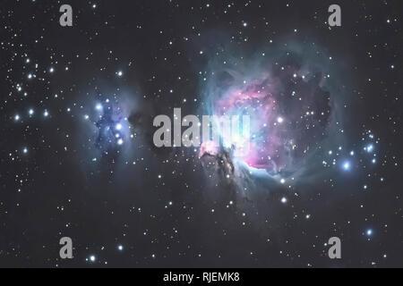 Große Orionnebel M42 im Sternbild des Orion, Milchstraße Stockfoto