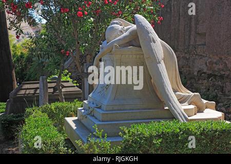 Engel der Trauer, das Grab von William Wetmore Story, der Cimitero Acattolico, Nichtkatholischen Friedhof von Rom, Cimitero dei protestanti, Protestantische Ceme - Stockfoto