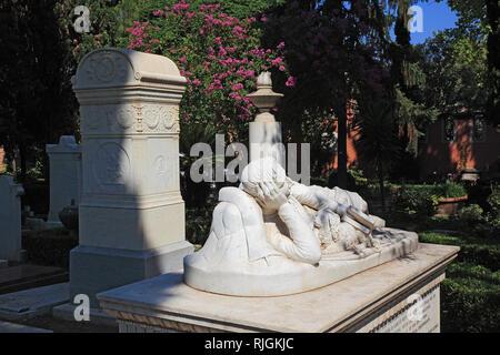 Grab von Devereux Plantagenet Cockburn, dem Cimitero Acattolico, Nichtkatholischen Friedhof von Rom, Cimitero dei protestanti, protestantischen Friedhof, oder Cimit - Stockfoto