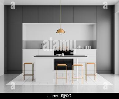 Minimalistische küche stockfoto bild alamy