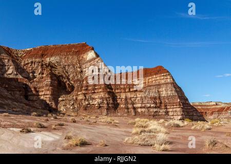 Allgemeine Ansicht der Fliegenpilz Hoodoos, einem Gebiet von fliegenpilz geformte ausgewogene Felsen im Grand Staircase-Escalante National Monument, UT, USA. - Stockfoto