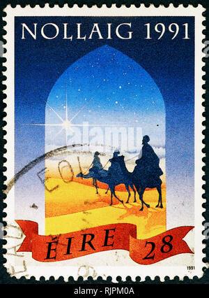 Drei Weisen auf irischen Briefmarke - Stockfoto