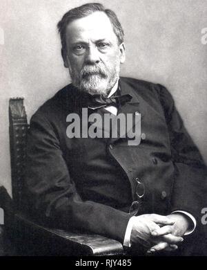 LOUIS PASTEUR (1822-1895) französische Biologe und Chemiker über 1885. Foto: Nadar - Stockfoto