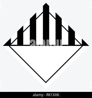 Vector Illustration Warnung, Gefahr Zeichen oder Symbol. Verschiedene gefährliche Stoffe, Güter - Stockfoto