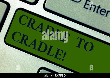 Cradle To Cradle : Handschrift text cradle to cradle. konzept bedeutung biomimetischer