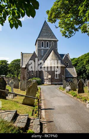 Die Pfarrkirche von St. Anne in der Victoria Street Alderney, Channel Islands. Stockfoto