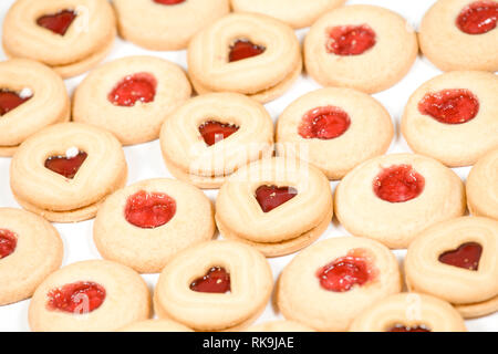 Marmelade, gefüllte Kekse - Stockfoto
