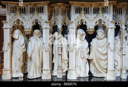 Salle des Gardes, Grab von Philippe Le Hardi, duc de Bourgogne, Fine Arts Museum, das Musée des Beaux-Arts, Dijon, Côte d'Or, Burgund, Bourgogne, - Stockfoto