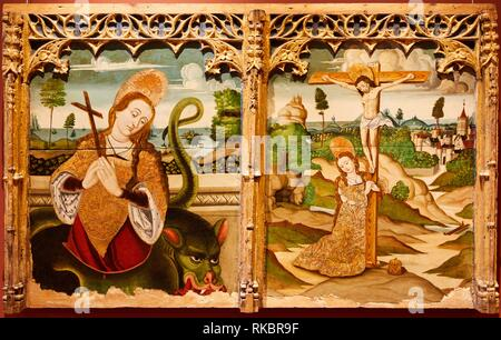 Sainte Marguerite et Sainte Madeleine, Languedoc, Fine Arts Museum, das Musée des Beaux-Arts, Dijon, Côte d'Or, Burgund, Bourgogne, Frankreich, Europa - Stockfoto