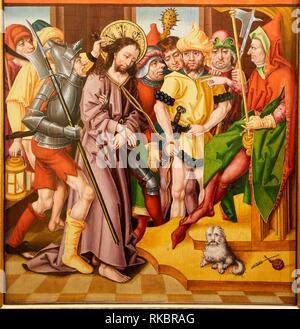 Altargemälde de la Passion, Maitre a l'Oeillet de Baden, Museum der Schönen Künste, Musée des Beaux-Arts, Dijon, Côte d'Or, Burgund, Bourgogne, Frankreich, - Stockfoto