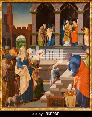 Présentation de la Vierge au Tempel, Grégoire Guérard, Fine Arts Museum, das Musée des Beaux-Arts, Dijon, Côte d'Or, Burgund, Bourgogne, Frankreich, - Stockfoto