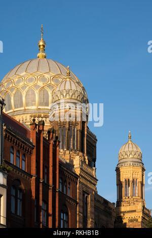 Neue Synagoge, Oranienburger Straße, Berlin, Deutschland, Europa. - Stockfoto