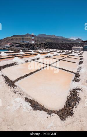 Salt Flats in Fuencaliente, La Palma, Kanarische Inseln, Spanien. - Stockfoto