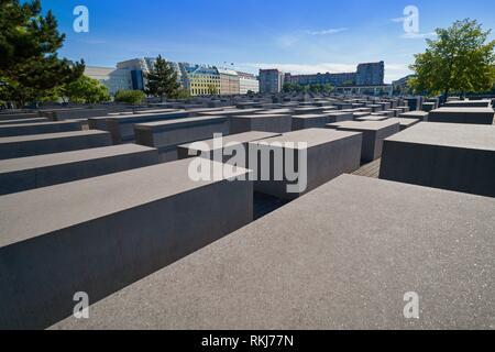 Berlin Holocaust Mahnmal der ermordeten Juden in Deutschland. - Stockfoto