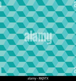 Light Blue Cube von Dreieck, geometrischer Vektor Muster gemacht - Stockfoto