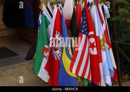 Flaggen verschiedener Länder/Flaggen verschiedener Mitgliedstaaten - Stockfoto