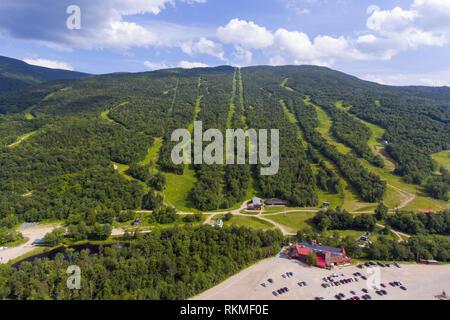 Wildcat Mountain Ski Area im Sommer in der Stadt von Pinkham Grants, New Hampshire, USA. - Stockfoto