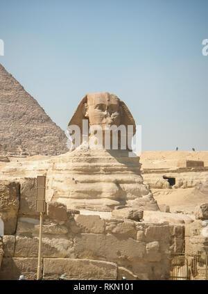 Architektonische Erbe der alten ägyptischen Zivilisation. Große Sphinx - Stockfoto