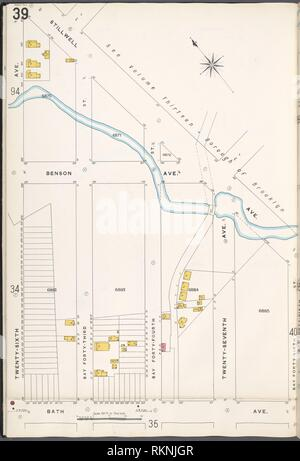 Brooklyn V. 12, Teller Nr. 39 [ Karte von stillwell Ave., Bay 46th St., Badewanne Ave., 26. Ave.] begrenzt. Sanborn Map Company (Publisher). Atlanten der Neuen