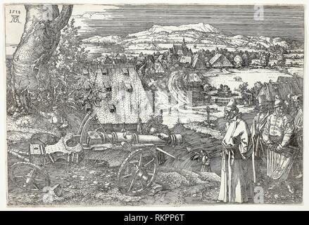Landschaft mit Kanone (die große Kanone) - 1518 - Albrecht Dürer Deutsch, 1471-1528 - Künstler: Albrecht Dürer, Herkunft: Deutschland, Datum: 1518, Medium: - Stockfoto