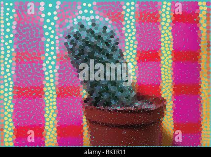 Cactus Punkte auf einen farbigen Hintergrund - Stockfoto