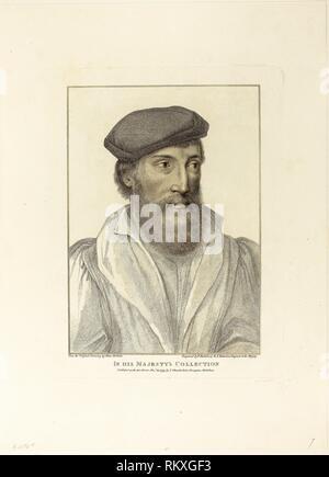 Porträt eines Mannes - 22. November 1799 - Francesco Bartolozzi (Italienisch, 1727-1815) nach Hans Holbein der Jüngere (1497-1543) - Künstler: - Stockfoto